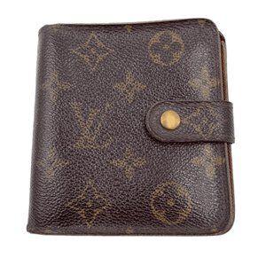 Authentic Louis Vuitton Monogram Compact Wallet